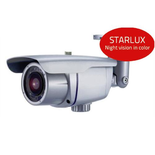 Caméra IP extérieur STARLUX - vision de nuit en couleur - IP 67 - Portée IR 80 mètres - 5 à 50 mm