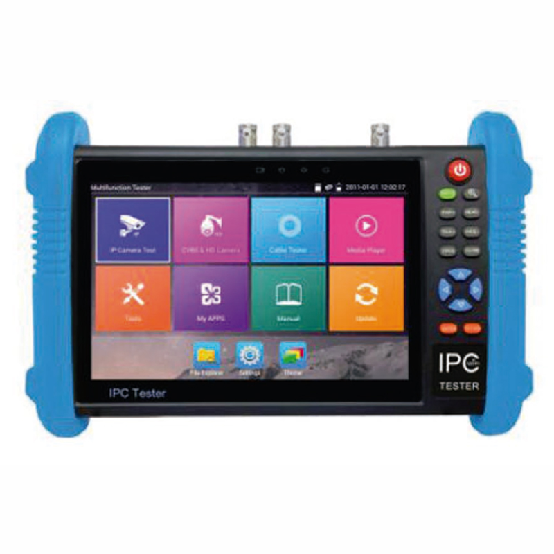 TESTEUR IP / AHD /CVI / TVI / HD-SDI /  CVBS, flux H264/265 4K, E/S HDMI, alimentation de caméras en 12VDC ou PoE